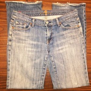 7 For All Mankind Kimmie Bootcut Jeans Mid Wash 30